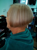 Woman's hairstyle by Solo Hair Fashions, Sheringham, North Norfolk